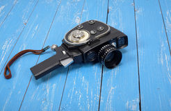 Vintage movie film camera Stock Photography