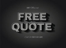 Vintage movie Free Quote sign Stock Photos