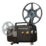 Vintage movie projector with clipping path Royalty Free Stock Images