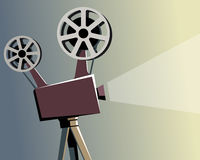 Vintage movie projector. Illustration Royalty Free Stock Photography