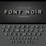 Vintage movie text effect alphabet. Vintage movie or retro cinema text effect Stock Photos