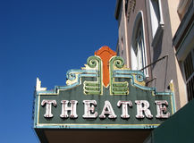 Vintage movie theater marquee sign Royalty Free Stock Photo
