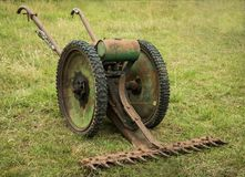 Crop Cutter Bar Machine. Vintage mower for cutting crops Royalty Free Stock Photos