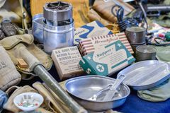 Free Vintage MRE Supplies From WW2 Stock Images - 120936224