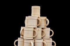 Vintage mugs Stock Photos