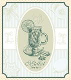 Vintage mulled wine Royalty Free Stock Photo