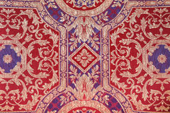 Vintage multicolor fabric pattern. Close-up Royalty Free Stock Photography