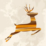 Vintage multicolor reindeer Royalty Free Stock Photo