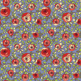 Vintage multicolor roses seamless pattern. Bright multicolor roses seamless pattern Stock Photo