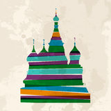 Vintage multicolor St. Basils Cathedral Royalty Free Stock Images