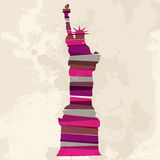Vintage multicolor Statue of Liberty Stock Images