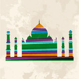 Vintage multicolor Taj Mahal Stock Photography