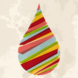 Vintage multicolor water drop Royalty Free Stock Photos