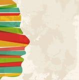 Vintage Multicolor Woman Head Stock Image