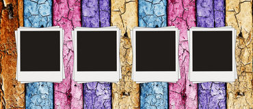 Vintage multicolored wooden wall Stock Image
