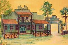 Vintage mural Stock Image