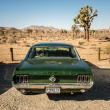 Vintage muscle car in the desert Stock Photos