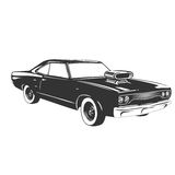 Vintage muscle car. Stock Photography