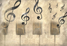 Vintage music background Stock Photography