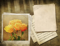 Vintage music background Royalty Free Stock Images