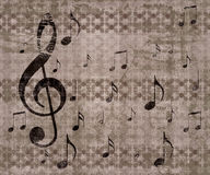 Vintage music background Stock Images
