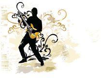 Vintage music background Royalty Free Stock Photography