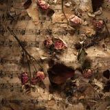 Vintage music background Stock Image