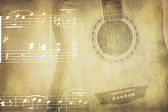 Vintage music collage Stock Images