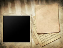 Vintage music concept background Royalty Free Stock Photo