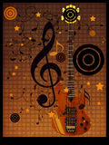 Vintage music guitar background Stock Photo