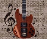 Vintage music guitar background Stock Photography