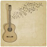 Vintage music guitar background Royalty Free Stock Image