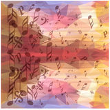 Vintage music notes background Royalty Free Stock Photography