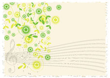 Vintage music notes background Royalty Free Stock Images