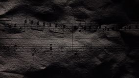 Vintage music notes, close up. Vintage music notes, cam moves to the right, close up stock video footage