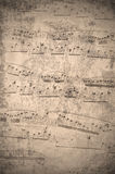 Vintage music notes Royalty Free Stock Photo
