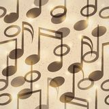 Vintage music pattern Stock Images