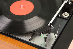 vintage music player turntable with lp Stock Photography