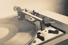 vintage music player turntable with lp Stock Images
