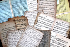 Vintage music scores Stock Image