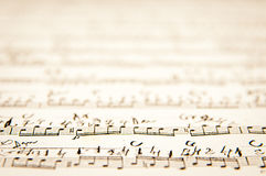 Vintage music scores Royalty Free Stock Images