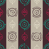Vintage music seamless pattern. Stock Images