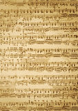 Vintage  music sheet Stock Photography