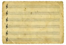 Free Vintage Music Sheet Royalty Free Stock Photography - 4849747