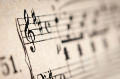 Vintage music sheet Royalty Free Stock Images