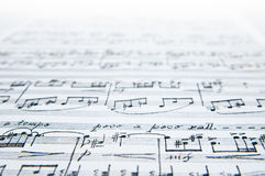 Vintage music sheet detail Stock Photography