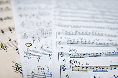 Vintage music sheets Stock Images