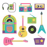Vintage music and sound set Stock Photography