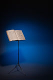 Music stand with vintage piano music royalty free stock photo