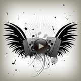 Vintage music wings Royalty Free Stock Photography